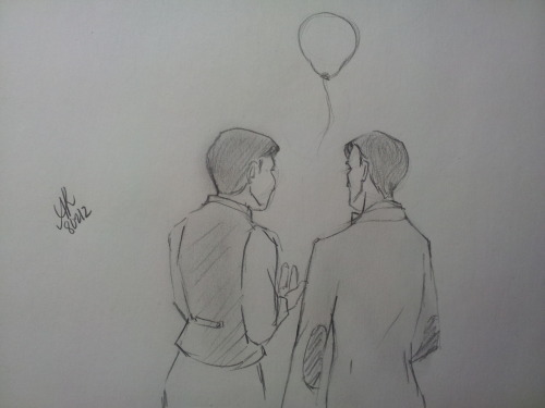 """Why a red balloon, Arthur?""  ""Well, it's like that French movie wihout any words. I think it represents hope. Mum would have liked it, I think. Even though she wasn't that fond of the French.""   Prompt: Arthur and the Doctor; a balloon"