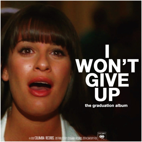 Glee: The Graduation Album | I Won't Give Up Alternative Cover