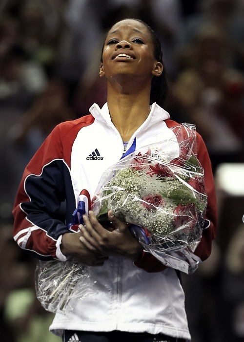 Oh Happy Day!!! Congratulations to sixteen-year old Gabby Douglas, the gymnast from Team USA who made history as the first African-American winner of the women's individual all-around gymnastics final at the 2012 London Olympics!