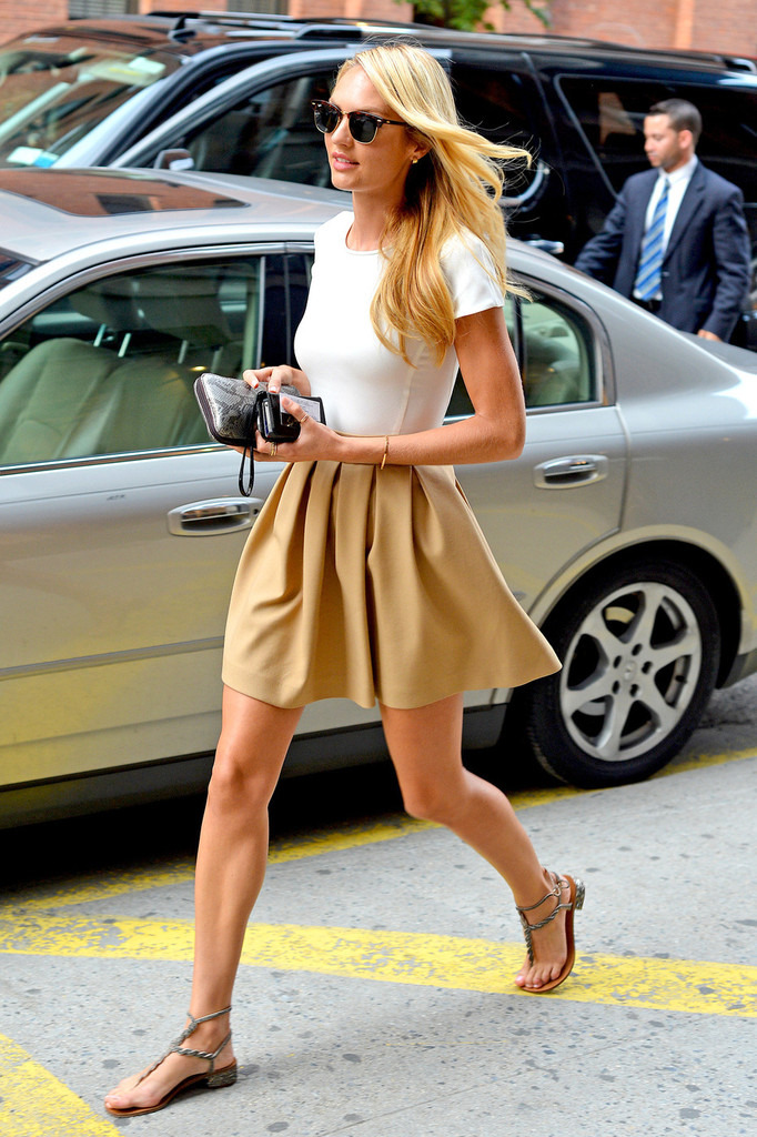 Candice Swanepoel out in New York City - July 31, 2012