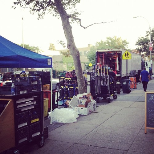 Stumbled onto the set of David Wain's new movie in Cobble Hill. (Taken with Instagram)