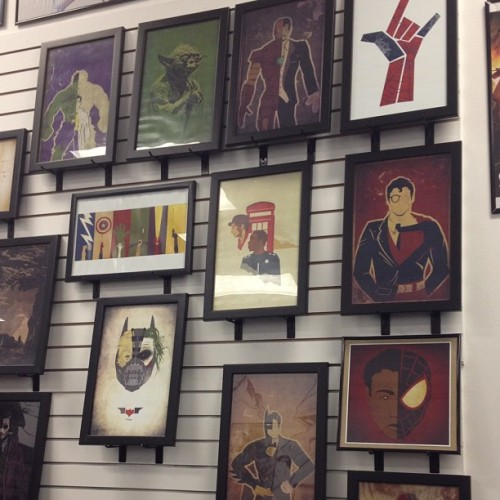 thormorales:  Wall of Danny's art at Epic Comics (Taken with Instagram)