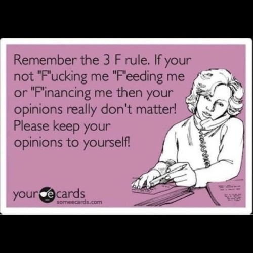The #Classic 3F Rule  (Taken with Instagram)
