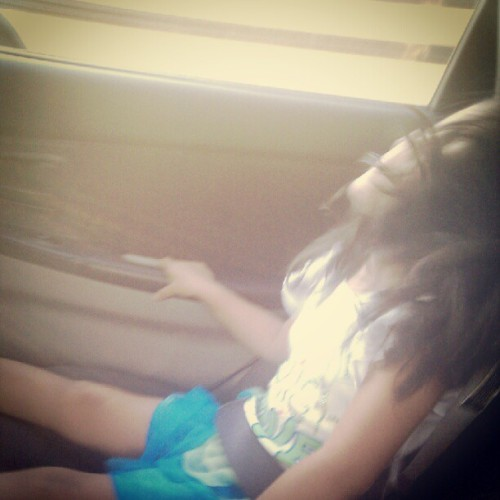 My little sis rocking out to Cher Lloyd. (Taken with Instagram)