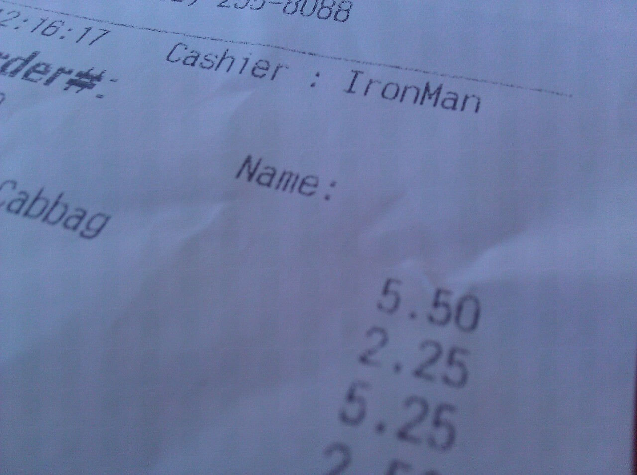 The cashier was IronMan and I had no idea…