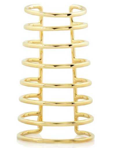 What would Khaleesi wear? Brass Metal Cage Cuff, by Yves Saint Laurent submitted by beingthinisnotasin