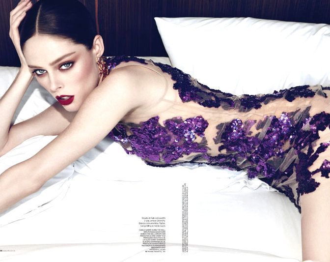 she-loves-fashion:  SHE LOVES FASHION: Coco Rocha for Elle Brazil May 2012
