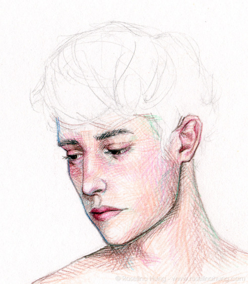 Roselina Hung - a boy is a work in progress, pencil crayon on paper, 2012 Please check out my Indiegogo campaign, Pretty Boys Kill Me - Artist Residency in Reykjavik, Iceland - 20 days left and counting!