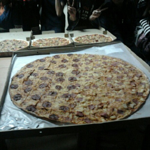 pizza party after the final assessment ⊙﹏⊙ (Taken with Instagram at ECI)
