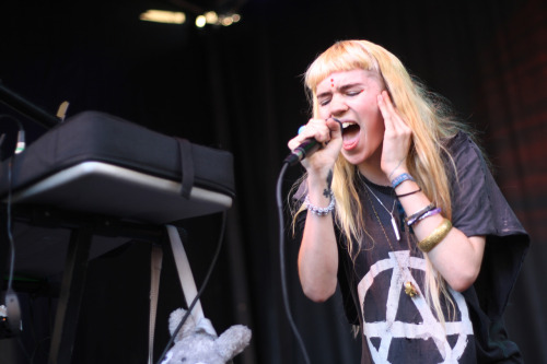 Video and Photos of Grimes at the 2012 Capitol Hill Block Party in Seattle!