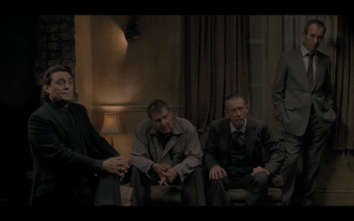 dreammason:  Look at this line up of actors. Ian McShane, Tom Wilkinson, John Hurt and Stephen Dillane. 44 Inch Chest.