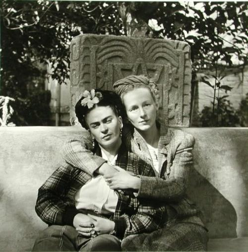 Frida Kahlo and Emmy Lou Packard, photographed by Diego Rivera