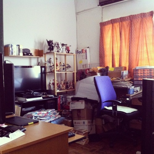 The Eisuverse drawing studio at home currently (Taken with Instagram)