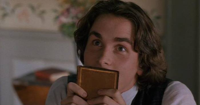 Christian Bale as Laurie in Little Women