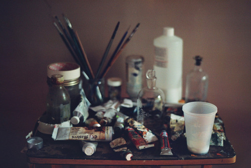 4dele:  inside aaron's studio | boerum hill by naftels on Flickr.