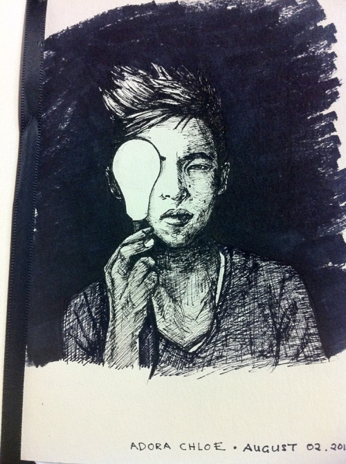 "adorachloe:   I drew Abraham Lim of The Glee Project : Season 2. Did it straight with pen, so, yes, it's not totally perfect and there are imperfections. Don't be too hard on me, I'm still practising =) He's been a great inspiration and I love how he stands up for himself, what he believes in and most of all, for his fans. He taught me a lot about loving myself and overcoming difficulties in life. He is a fighter. Oh, I could go on and on. And, this guy looks good in ALL his pictures it's crazy! Robert Ulrich is right, he does photographs well, very photogenic.  All in all, he is a beautiful person who never fails to put a smile on my face, make me feel good about myself and continues to inspire me as well as others Abraham if you do come across this, do not change who you are, not for anyone else. You are perfect just the way you are. =) Team Abraham all the way! On a side note, I noticed that my drawing ""skill"" is, not quite as good as it used to be so I'll probably be doing a 30 Day Drawing Challenge soon to ""practice more"". So, stick around. Oh yeah, it was this picture that I drew.    This is amazing. Thank you so much. You'll never know how thankful I am for fans like you. Original Photo Credit: Melly Lee"