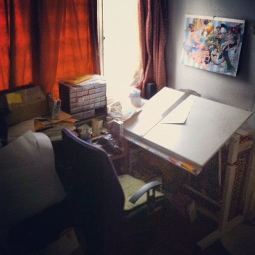 The drawing area (Taken with Instagram)