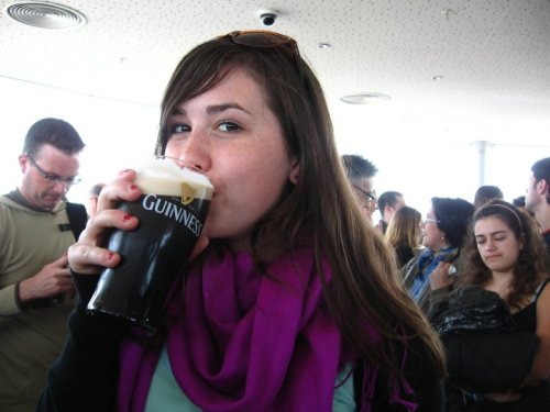 guinness factory in dublin! a little greasier…
