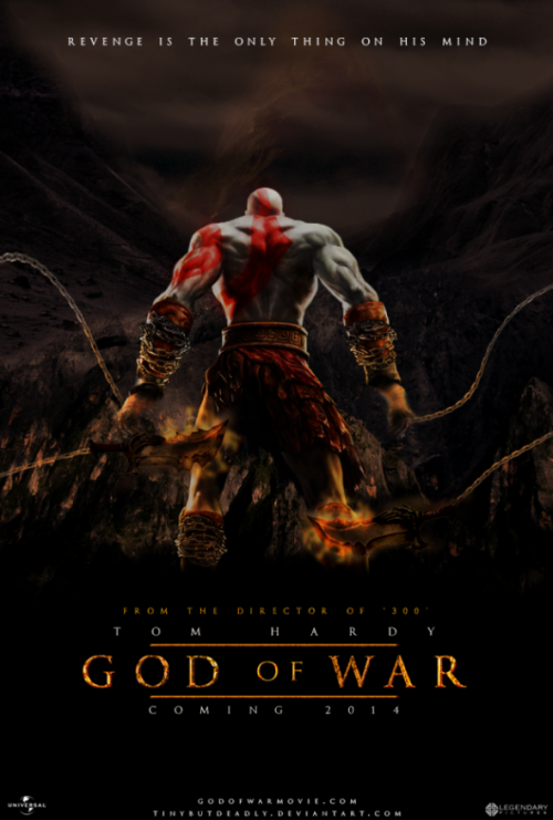 thelastinterceptor:  Tom Hardy as Kratos? Hmm…