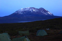 The beautiful Mount Kilimanjaro.  If you'd like to find out more about actually climbing Mount Kilimanjaro, the tallest mountain on the African Continent, visit MyKilimanjaroClimb.com.