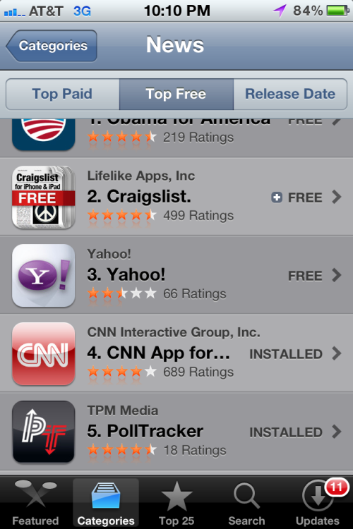 Can you help make PollTracker #1 in the App Store? #5 isn't good enough! Download it now here!