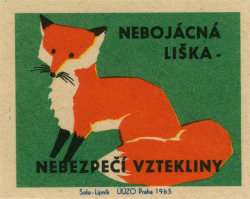 pathandpuddle:  czechoslovakian matchbox label by maraid on Flickr.