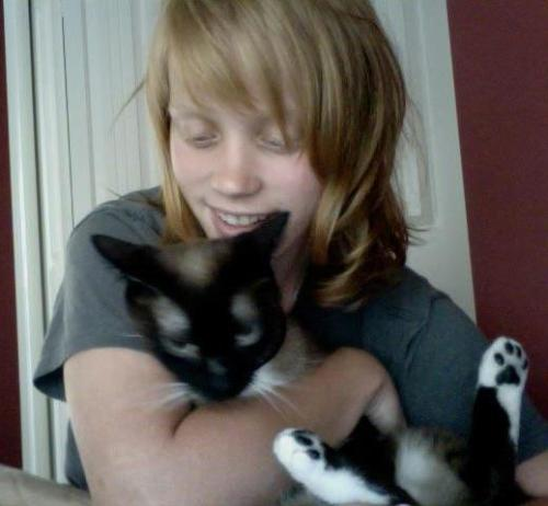 Ginger: Aaaand me with my kitty Ezio >u<