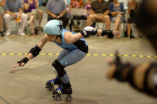 Toxin Dioxin gets lead, Roc City home bout. Photo pixel8, aka Bob Krzaczek.