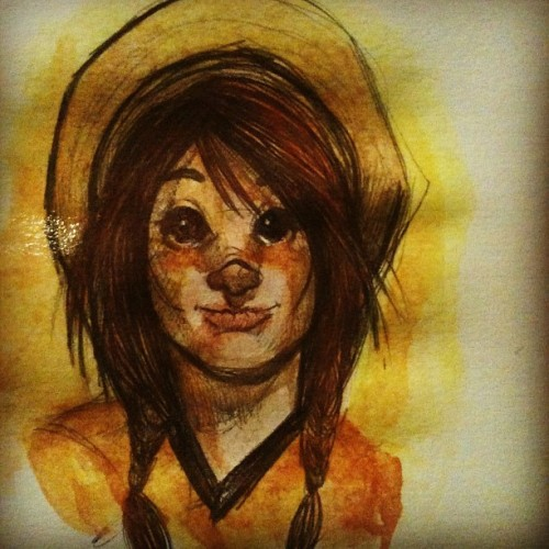 abajodeuncerezo:  Water color sketch  (Tomada con Instagram)