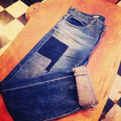 patchwork boyfriend jeans @AGjeans @teenvogue  (Taken with Instagram at AG Adriano Goldschmied)