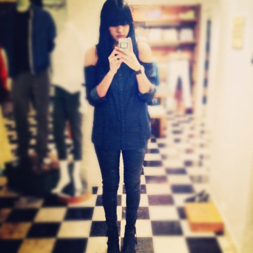 outfit preview @AGjeans @teenvogue  (Taken with Instagram at AG Adriano Goldschmied)