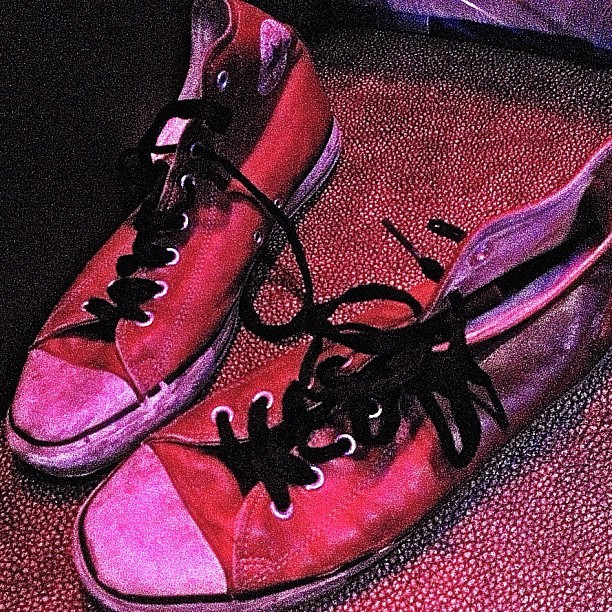 Guess who these @Converse belong to… #RockMemorabilia (Taken with Instagram)