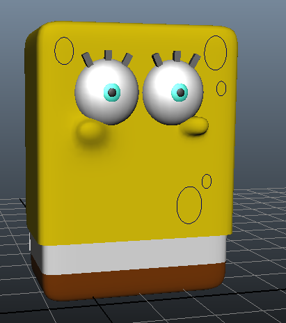 "Making a 3D Spongebob for my first dubstep music video, for the song ""Chocolate!"" by Pumodi"