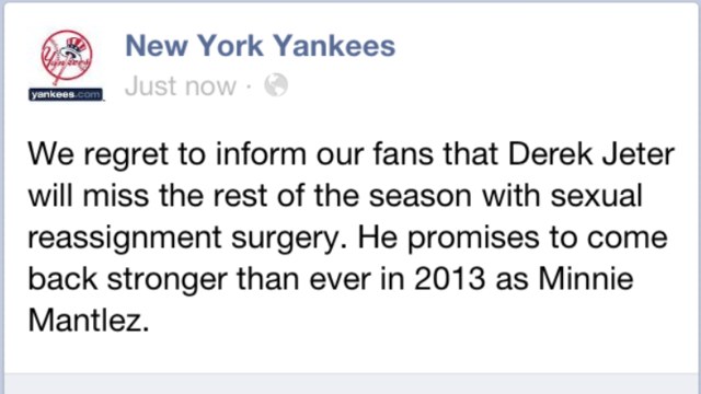 sportsnetny:  New York Yankees Facebook Page Hacked, Others Too  - Deadspin