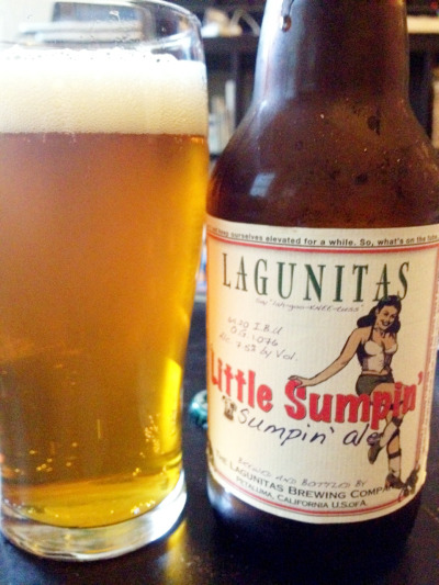 Little Sumpin' Sumpin' Ale, The Lagunitas Brewing Company, Petaluma, CA, 7.5% abv. In honor of IPA Day, today I wanted to share one of my favorite hoppy ales. This one actually uses 50 percent wheat malt, which, paired with its fantastic hop aroma and flavor, creates a surprisingly refreshing brew for its hearty alcohol content.