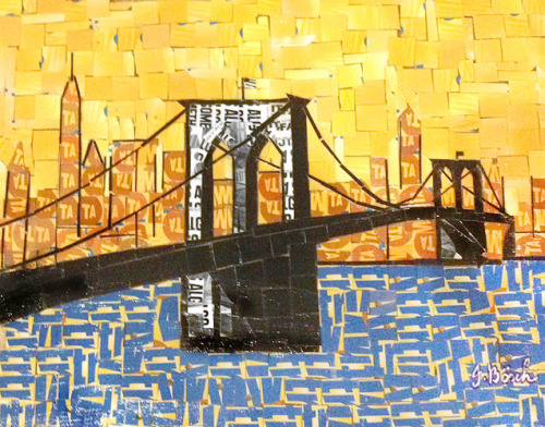 MetroCard Collages - Nina Boesch