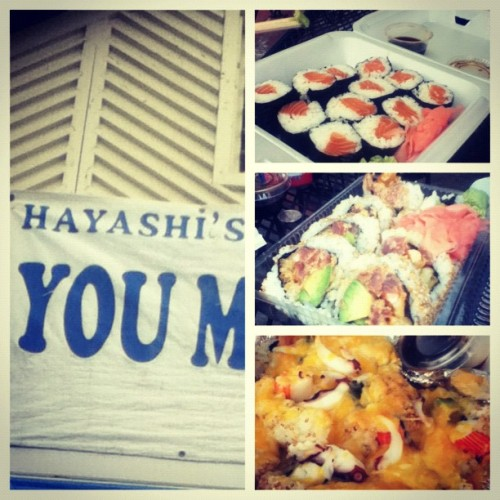 Hayashi's is the cats meow #tomatogang #r4bk #sushi #Chalant (Taken with Instagram)