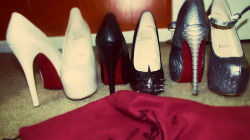 Red Bottoms <3  my moms though :)