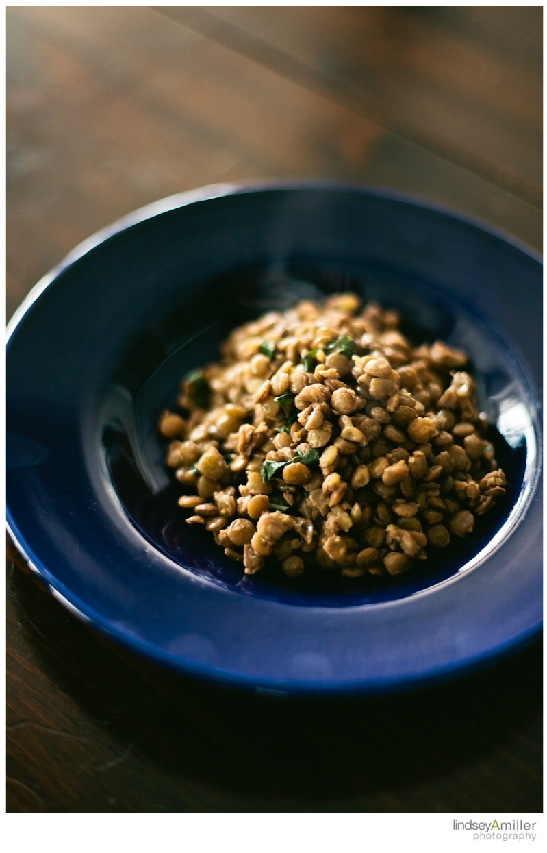 215 - Balti spiced lentils with basil