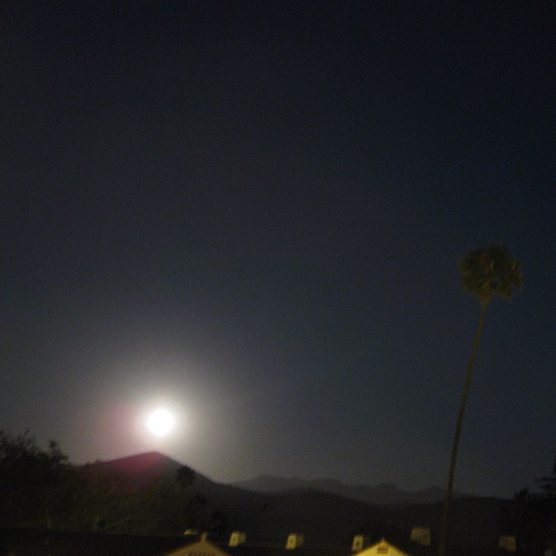 Moonrise over the Santa Monica Mountains. Beautiful! (Taken with Instagram at Anacapa Village)