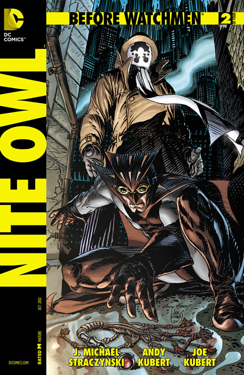 Before Watchmen: Nite Owl #2, October 2012, cover by Andy Kubert and Joe Kubert