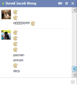 Officially the most used emoticon of Facebook chat.