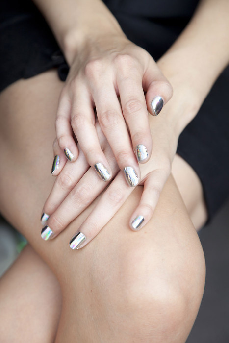 fall 2012's it nail color: metallic.