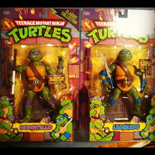 Double Turtle Power! (I honestly didn't mean to get both Donatello and Leonardo of both sets first. Ha ha) (Taken with Instagram)