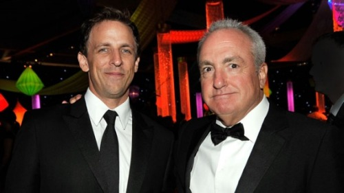 "cokesnlfan:  'SNL's' Seth Meyers, Lorne Michaels Developing NBC Brothers Comedy (Exclusive) The network also picked up a script centered on a high-end Los Angeles hotel from the screenwriter of ""The Best Exotic Marigold Hotel."" Lesley Goldberg - The Hollywood Reporter NBC's 2013-14 development season is in full swing, with the network giving script orders to a brothers comedy and hotel drama.  The untitled brothers effort is a multicamera comedy from Saturday Night Live's Seth Meyers and his younger brother, Josh Meyers (Mad TV). The duo will write and executive produce alongsideThe Colbert Report's Peter Grosz, with SNL'sLorne Michaels on board to executive produce the Universal Television project through his Broadway Video shingle. If ultimately ordered to series, it would join a growing crop of Michaels projects, which includes Up All Night, 30 Rock and Late Night With Jimmy Fallon. Hotel California, from Universal Television, revolves around a high-end Los Angeles hotel and its general manager and permanent resident Jamie Jones, who's determined to keep the property as ""the place to stay"" in the city. Ol Parker, the screenwriter behind The Best Exotic Marigold Hotel, will pen the script, with Working Title TV's Daniel Pipski on board to executive produce. Parker also wrote and directed the 2005 feature Imagine Me & You. Seth Meyers is repped by CAA, Brillstein Entertainment Partners and Hirsch Wallerstein; Josh Meyers is with the Kohner Agency and Brillstein; and Grosz is at ICM Partners and Brillstein. Parker is with the Rod Hall Agency and Management 360."
