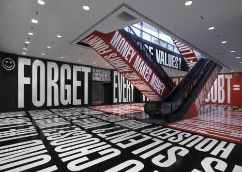 I am so stupid excited for Barbara Kruger at the Hirshhorn.