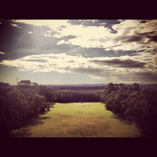 On my lunch break #sky #winter #work (Taken with Instagram at Sydney Olympic Park)