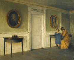 stilllifequickheart:  Peter Ilsted The Artist's Daughters in an Interior 1911