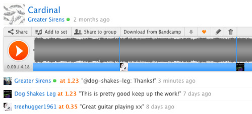 Thanks for the compliments!  Remember, anyone can listen to us not only on Soundcloud, but also on our Bandcamp Page and Spotify.