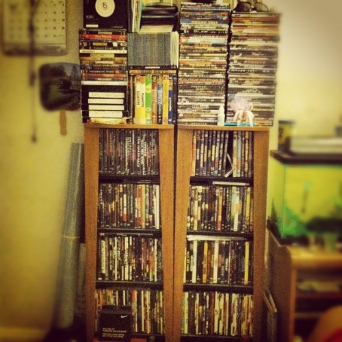 Jus call me the mini blockbuster. I got movies for days. Lol. Jus need company. .  (Taken with Instagram at Late Night Dae's Room)
